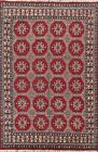 Vintage Geometric Balouch Afghan Oriental Area Rug Hand-knotted Foyer Carpet 5x8