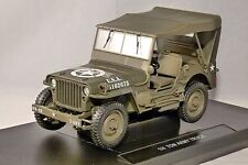 WILLYS JEEP US ARMY 1/4 TON TRUCK Closed Top 1/18 scale model by WELLY