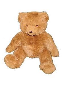 "Russ Vintage 16"" Plush TEDDY Brown Bear 7673 Stuffed Animal Seated Large"