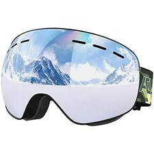 Ski Goggles- Otg Frameless Snow Snowboard Of Dual Lens With Anti Fog And Uv400