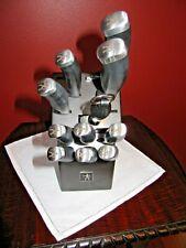 JA Henckels International Silver Cap Knife Set and Block, Stainless Steel Blades