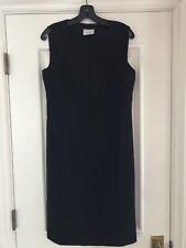 AKRIS PUNTO Front Zip Black Wool Sheath Dress 8