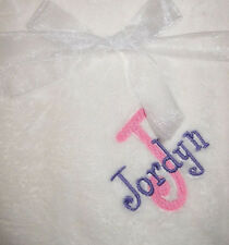 Personalized Baby Soft Blanket Name Embroidered Fleece New Gift Girl