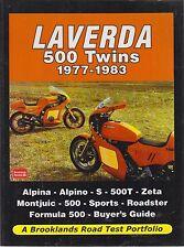 LAVERDA ALPINA ALPINO 500T ZETA MONTJUIC FORMULA 500 1977 - 1983 ROAD TESTS BOOK