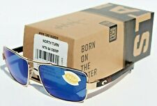 9accf22139e Costa Del Mar North NTN 64 Rose Gold matte Retro Square Sunglasses Blue 580p