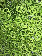 300 LIME GREEN ALUMINUM CAN TABS ASSORTED PULL TABS POP TOPS SODA