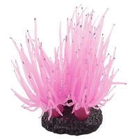 Fish Tank Aquarium Decor Coral Flower Design Underwater Plant Pink S5X4