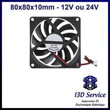 Ventilateur axial 8010 80x80x10mm 12V ou 24V