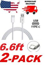 ✅ 2X 6FT USB C Cable Type C Type-C Fast Charger Cord For OEM SAMSUNG Galaxy LG ✅