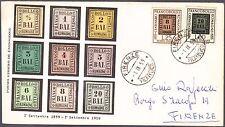 ITALIA BUSTA FDC MILVIO 1959 100° FRANCOBOLLO ROMAGNE  ANNULLO SPECIALE FIRENZE
