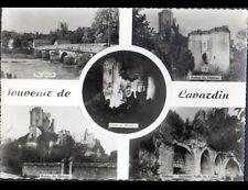 LAVARDIN (41) VILLAS , PONT & CHATEAU illuminé , cliché période 1950