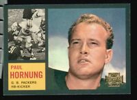 7 ~~ PAUL HORNUNG  FOOTBALL  CARDS~~Includes HIS 1962 TOPPS Reprint!!