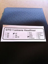 1967 67 GTO / LEMANS BLACK PERFORATED HEADLINER  / FREE SHIPPING / IN STOCK