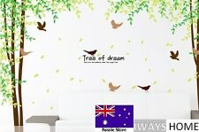 Tree of Dream Life Tree Bird Removable Home DECAL Wall Sticker QUALITY Kids Room