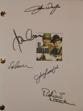 El Dorado Signed Film Movie Script John Wayne James Caan Robert Mitchum reprint