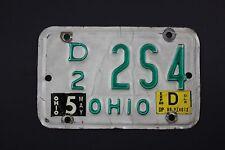 Vintage 1989 Original OHIO License Plate Motorcycle Dealer 2S4