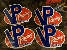 Lot Of 4 VP Racing Fuels Decals.VP Racing Fuels NHRA Drag Racing Stickers New!!