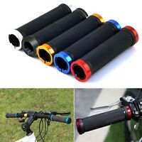 Pair Double Lock On Locking Mountain BMX Road Bike Bicycle Handle Bar Grips Cao