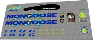 Mongoose I.B.O.C. World Champion 1993 DECAL SET