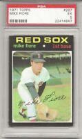 SET BREAK -1971 TOPPS #287 MIKE FIORE,  PSA 5 EX, BOSTON RED SOX, L@@K !