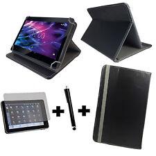 """3er Set fur Samsung Galaxy Tab 10.1N P7501 Tablet Tasche Etui 10.1"""" Schwarz 3in1"""