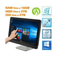 "PC COMPUTER AIO ALL IN ONE DELL 9010 23"" TOUCHSCREEN TOUCH LCD I5 WEBCAM 1080P-"