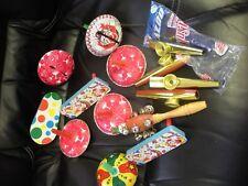 Large Lot of Vintage Tin Kazoos Noise Makers Litho Images Clowns Party ETC