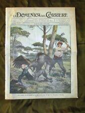 La Domenica del Corriere 25 Dicembre 1910 Aquila Treno Piene dei fiumi