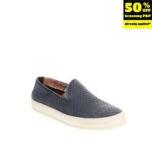 RRP €125 FLOW Leather Sneakers LEFT SHOE ONLY Size 39 UK 5 US 6 Woven Treated