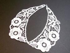Matte White Venice Lace Collar Sewing Appliques x 1 set, Collar Appliques