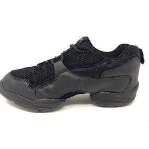 Capezio Women's Black Dance Sneakers Athletic Shoes Mesh Top Sz 10.5 M