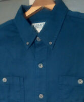 Duluth Trading Company Long Sleeve Button Up Shirt Mens  XL  Navy