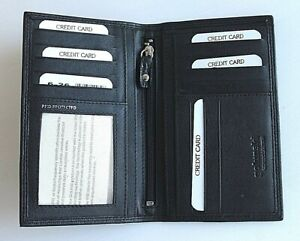 RFID Protected Golunski Black Leather Slim Suit Wallet Photo Window Pocket
