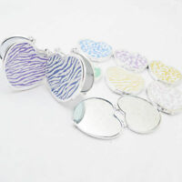 Mini Double-sided Makeup Mirror Compact Pocket Portable Floral Cosmetic Folding