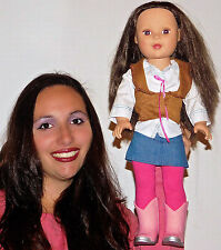 """Madame Alexander 18"""" inch doll WITH COMPLETE OUTFIT CLOTHES BROWN EYES & HAIR"""
