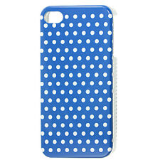 Blue Hard Plastic IMD White Dots Back Case Cover for iPhone 4 4G 4S
