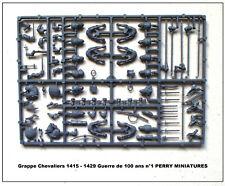 PERRY MINIATURES Grappe Chevaliers (montés) 1415 - 1429 Figurines 28mm plastique