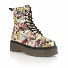 Dolcis  Floral/Gold Boots Lace Up/Side Zip Size 3 RRP £45 LAST PAIR!!!