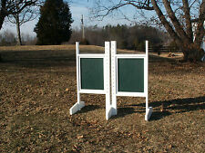 Horse Jumps Solid Colored Panel Wing Standards Pair/6ft -Colors- Horse Tack #208
