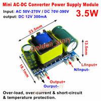 Mini AC-DC 110V 120V 220V 230V to 12V 300mA Converter Board Module Power Supply