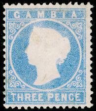 Gambie SG14cB, 3d pâle terne Ultramarine, Inutilisés. Cat £ 65. WMK cc