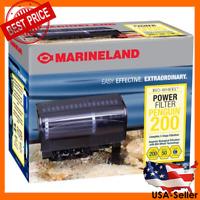 MARINELAND PENGUIN 200B BIO-WHEEL AQUARIUM POWER FILTER 50-GAL