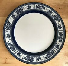 "4 DANSK CEYLON BLUE 10.75"" Leaf Rim Dinner Plates - Japan - VGUC"