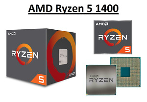 AMD Ryzen 5 1400 Quad Core Processor 3.2 - 3.4 GHz, Socket AM4, 65W CPU