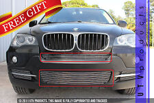 GTG, 2007 - 2010 BMW X5 2pc CHROME CENTER BUMPER BILLET GRILLE KIT