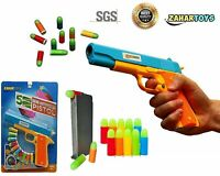 Realistic Size Toy Gun Colt 1911 - 10 Colorful Soft Bullets - Ejecting Magazine