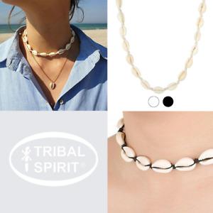 Tribal Spirit Kette Kauri Kaurimuschel Muschelkette Boho Ibiza Festival