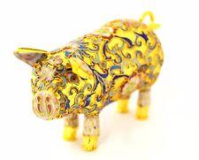Vintage Gold Champleve Pig