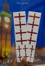 16 Flag Stickers Face Temporary Tattoo Rugby World Cup  England Flag St Georges