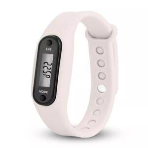 Men Women Sports Pedometer LED Display Screen Calorie Distance Cal Wristband